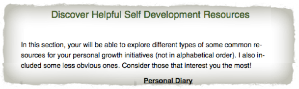 Self Development Starter Kit Resources