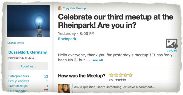 Networking Challenge - Personal Development Goal - Meetup